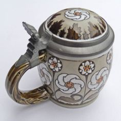 Art Nouveau Mettlach VILLEROY & BOCH n° 2099 Jugendstil chope beer stein