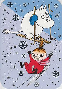 Moomin and Little My Moomin Cartoon, Cartoon Hippo, Little My Moomin, Character Illustration, Illustration Art, Moomin Wallpaper, Moomin Valley, Tove Jansson, Christmas Cartoons