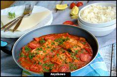 Ryba w sosie pomidorowo-paprykowym
