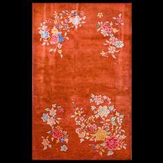 Chinese - Art Deco Rug - 19933 | Chinese 3' 0'' x 4' 10'' | Persimmon, Origin China, Circa: 1900