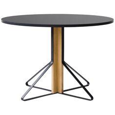 Authentic Kaari REB 004 Round Table by Ronan & Erwan Bouroullec & Artek For Sale Table Legs, Wood Table, Dining Room Table, Ronan & Erwan Bouroullec, Design Fields, Alvar Aalto, Art Institute Of Chicago, Design Museum, Design Process