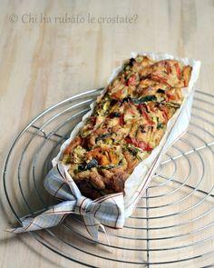 Cake salato alle verdure arrostite e formaggio