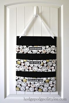 sew mail organizer | DIY Fabric Mail Organizer
