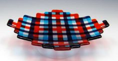 Fused art glass plates