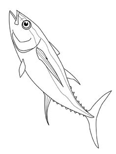 coloring page Fish on Kids-n-Fun. Coloring pages of Fish on Kids-n-Fun. More than coloring pages. At Kids-n-Fun you will always find the nicest coloring pages first! Fish Coloring Page, Cool Coloring Pages, Animal Coloring Pages, Red Fish Blue Fish, Fish Fish, Fish Template, Fish Drawings, Fish Design, Fish Art