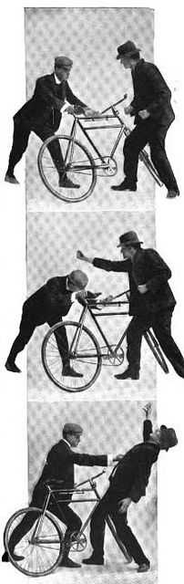 Self Defense for Cyclists by Michael  Neubert, via Flickr. The Dutch bicycle police still train in a variation of this system