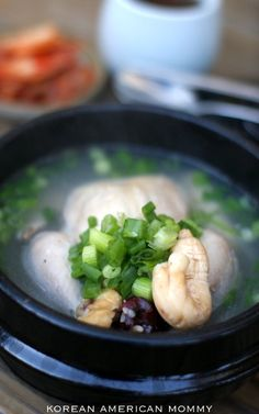 samgyetang - korean chicken ginseng soup