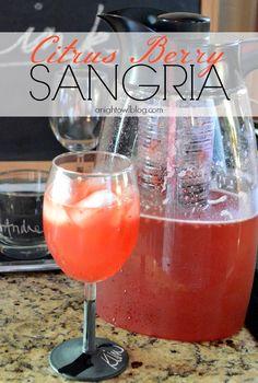 Citrus Berry Sangria | #summer #drinks #sangria #recipes