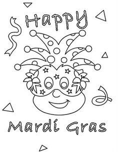 Happy Mardi Gras Coloring For Kids Mardi Gras Activities Mardi Gras Kid Mardi Gras Crafts