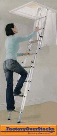 Hidden Retractable Aluminium Attic Ladder Hidden 4 The