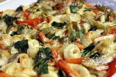 Tortellini Pepper and Spinach Bake
