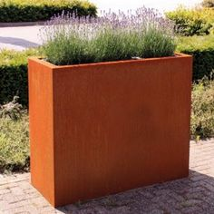 1000 images about rustically rusty and weathered corten steel planters and garden pots on. Black Bedroom Furniture Sets. Home Design Ideas