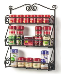 Take a look at this Black Scroll Spice Rack today!