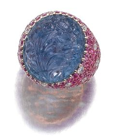 Lot 97 - Sapphire and Diamond Ring, Michele Della Valle