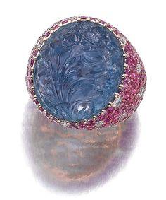 Lot 97 - Sapphire and Diamond Ring, Michele Della Valle