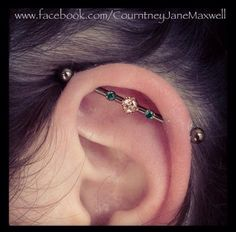 Beautiful industrial piercing