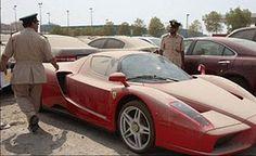 Abandoned Ferrari in Dubai