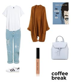 """Coffeé Look"" by laura1298 on Polyvore featuring Olympia Le-Tan, adidas, Alexandra de Curtis and Bobbi Brown Cosmetics"