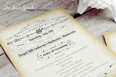Vintage Ceremony Program  Printable  DIY  The by HeSawSparks, $65.00
