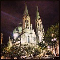 Se Cathedral at night, Sao Paulo (Brazil)