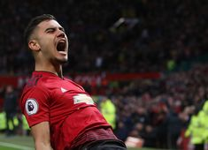 Andreas Pereira of Manchester United celebrates scoring their first goal during the Premier League match between Manchester United and Southampton FC at Old Trafford on March 2019 in Manchester,. Get premium, high resolution news photos at Getty Images Man Utd Squad, John Peter, Southampton Fc, Premier League Champions, Manchester United Football, Premier League Matches, Old Trafford, Europa League, He Is Able
