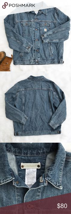 Vintage Denim Carhartt Jacket This vintage work jacket by Carhartt is in excellent used condition. 100% cotton, size XL. Reasonable offers welcome. Carhartt Jackets & Coats
