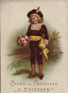CACAO DRIESSEN BOY IN VELVET SUIT CARRYING A POSY OR BUNCH OF FLOWERS IN RIGHT HAND | Flickr - Photo Sharing!