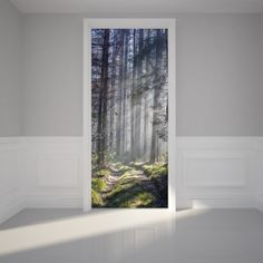 """[size]31""""w x 79""""h (80 x 200cm)In order to provide an easy installation the door sticker comes in 2 parts (each part is sized 80 x 100cm)and is numbered on the back to avoid a mix up of the units.(You'll receive your Door Mural in two parts/ upper part and under part)[Material]Matt fabric which is adhesive backed[What's Included]Door stickerInstruction FREE SHIPPING on all orders!"""