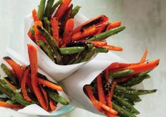 Rosemary-Garlic Carrot and Green Bean Fries
