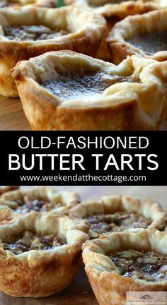 Old-Fashioned Butter Tarts Recipe - Weekend at the Cottage - - This OLD-FASHIONED BUTTER TARTS RECIPE produces glorious individual tarts perfect as a sweet treat or, served as dessert. Try 'em warm outta the oven, eh! Tart Recipes, Dessert Recipes, Cooking Recipes, Best Butter Tart Recipe, Paw Patrol Torte, Canadian Butter Tarts, Biscuits, Tart Filling, Canadian Food