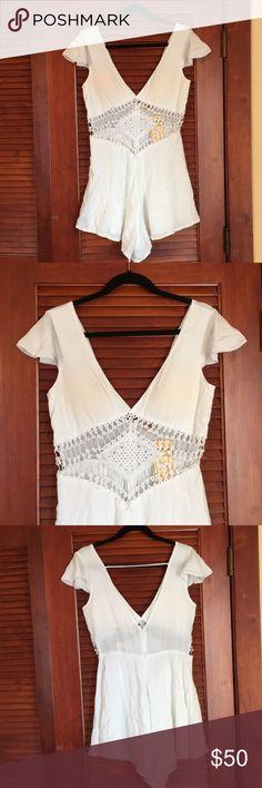 White Romper White Romper! Brand new and never been worn! Reverse Dresses