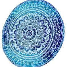 Round Mandala Tapestry Yoga Mat Indian Wall Hanging Beach Throw Towel Picnic Blanket Shawl Bohemia Decor Carpet Rug Tapestry