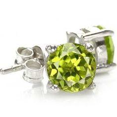 peridot.  The birthstone for August. A beautiful crisp green hue.