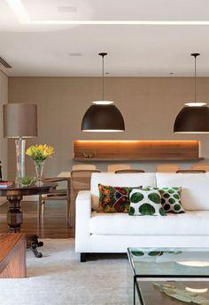 Seis salas de jantar integradas a outros ambientes da casa - Casa