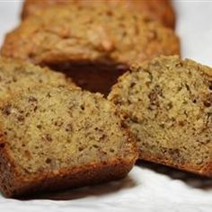 This banana bread recipe is moist and delicious, with loads of banana flavor. It's wonderful toasted!