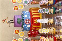 Festa Infantil Os Vingadores Bolo Biscuit THE AVENGERS