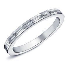 octavie alliance en or blanc serti de diamants taille baguette bague orblanc