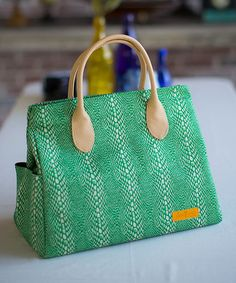 Take a look at this Green Lina Tote by Caramellles, LINAJAKE & dapperbag on @zulily today!