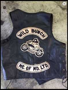 Wild Bunch Motorcycle Gang Leather Vest
