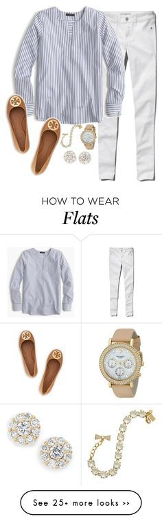 """""""The night is still young"""" by keileeen on Polyvore featuring Abercrombie & Fitch, J.Crew, Kate Spade and Tory Burch"""