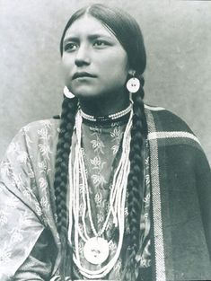 Strong Native American woman