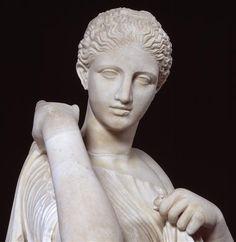 Réplique probable de l'Artémis Brauronia, original de Praxitèle, dédiée sur l'Acropole d'Athènes en 346 av J.-C.