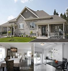 Custom country duplex plan by DrummondHousePlans. http://www.drummondhouseplans.com/custom-design-services/drummond-custom-homes-photo-gallery.html #Traditional #Plan #HousePlan