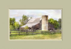 Old Barn Watercolor by nmsmith