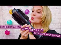 Simple hair tutorial to get sleek blowout at home in under 25 minutes, featuring the affordable Revlon dryer and volumizer, a microfiber towel, leave-in conditioner and more on Belle Meets World blog!