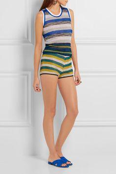 Missoni   Striped crochet-knit shorts   NET-A-PORTER.COM