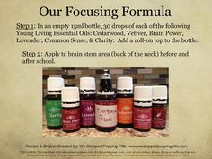 Help kids focus in school. I only use and recommend Young Living! Yl Essential Oils, Yl Oils, Young Living Essential Oils, Essential Oil Blends, Lisa, Stress, Living Essentials, Young Living Oils, Trainer