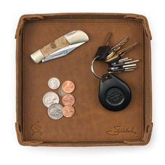 This is the strongest, most durable and longest lasting leather valet tray there is. Let us know if you find something tougher. They'll fight over it when you're dead.