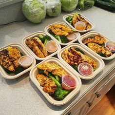 Pin for Later: 21 Simple Meal Prep Combinations Anyone Can Do Satay Chicken + Broccoli + Spicy Cashew Sauce