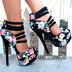 awesome Shoespie Flower Print Peep Toe Back Zipper Platform Heels Dream Shoes, Crazy Shoes, Me Too Shoes, Crazy High Heels, Pretty Shoes, Beautiful Shoes, Gorgeous Heels, Hot Shoes, Shoes Heels